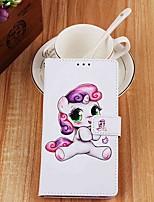 Недорогие -чехол для яблока iphone xr / iphone xs max кошелек / держатель карты / с подставкой для всего тела игривая пони из искусственной кожи для iphone 6s / 6s plus / 7/7 plus / 8/8 plus / x / xs