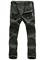 cheap -Men's Hiking Pants Trousers Softshell Pants Solid Color Winter Outdoor Regular Fit Windproof Breathable Quick Dry Warm Pants / Trousers Bottoms Black Army Green Blue Hunting Climbing Camping / Hiking