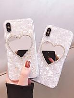 Недорогие -чехол для яблока iphone xs / iphone xr / iphone xs max ударопрочный / горный хрусталь / внутренняя сторона обложки imd сердце / акрил для iphone6 / 6s плюс iphone7 / 8 plus iphonex / xs max / xr
