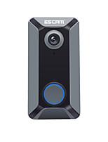 Недорогие -escam v6 720p беспроводной дверной звонок аккумулятор видеокамера бесплатно облако хранения водонепроницаемый колокол безопасности дома с внутренним перезвоном