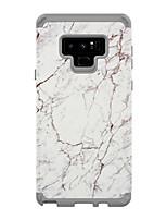 Недорогие -Кейс для Назначение SSamsung Galaxy Note 9 / Note 8 Защита от удара Кейс на заднюю панель Мрамор ТПУ / ПК