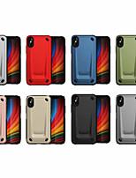 Недорогие -Кейс для Назначение Apple iPhone XS / iPhone XR / iPhone XS Max Защита от удара Кейс на заднюю панель Однотонный ПК