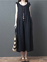 Недорогие -Жен. Шинуазери (китайский стиль) Черный Оранжевый Комбинезоны, Однотонный M L XL