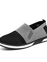 Недорогие -Муж. Комфортная обувь Сетка Наступила зима Мокасины и Свитер Черный / Серый