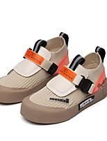 Недорогие -Девочки Удобная обувь Flyknit Спортивная обувь Маленькие дети (4-7 лет) Для прогулок Черный / Бежевый Лето