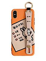 Недорогие -Кейс для Назначение Apple iPhone XS / iPhone XR / iPhone XS Max со стендом / IMD / С узором Кейс на заднюю панель Слова / выражения / Животное / Мультипликация ТПУ
