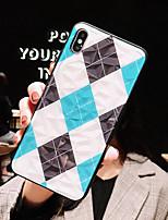 Недорогие -Кейс для Назначение Apple iPhone XS / iPhone XR / iPhone XS Max Ультратонкий / С узором Кейс на заднюю панель Геометрический рисунок / Мультипликация ТПУ