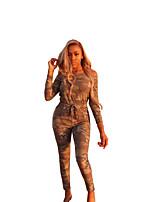 Недорогие -Жен. Активный / Классический Светло-коричневый Комбинезоны, камуфляж S M L