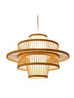 Недорогие -фонарь подвесной светильник окружающий свет дерево дерево / бамбук подвесной светильник лампы для столовой reataurant