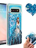 Недорогие -Кейс для Назначение SSamsung Galaxy S9 / S9 Plus / S8 Plus Движущаяся жидкость / С узором / Сияние и блеск Кейс на заднюю панель Соблазнительная девушка / Сияние и блеск / Цветы ТПУ