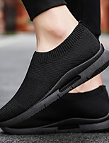 cheap -Men's Summer / Fall Casual Daily Outdoor Loafers & Slip-Ons Fitness & Cross Training Shoes Tissage Volant Breathable Wear Proof Black and White / White / Black