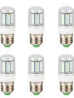 Недорогие -6шт 5 W LED лампы типа Корн 300 lm E14 G9 GU10 T 36 Светодиодные бусины SMD 4014 Новый дизайн Тёплый белый Белый 220-240 V 110-130 V