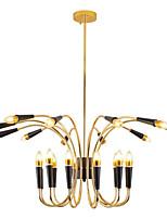 Недорогие -светодиодная свеча в виде люстры / промышленный подвесной светильник окружающий свет золотой металлический светильник с гальваническим покрытием для гостиной магазин кофейня 220-240 В лампочка в