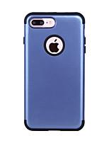 Недорогие -Кейс для Назначение Apple iPhone 7 Plus Защита от удара Кейс на заднюю панель Однотонный ПК / силикагель