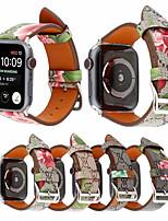 Недорогие -ремешок из натуральной кожи cora для apple watch band 44мм / 40мм / 42мм / 38мм браслет ремешок для часов для печати для серии iwatch 4/3/2/1
