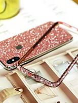 Недорогие -чехол для яблока iphone xs / iphone xr / iphone xs max / 7 8 плюс / 6splus / 6s горный хрусталь задняя крышка блестящий блеск металл