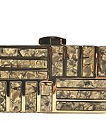 Недорогие -Жен. Блеск / Цепочки Акрил / Полиэстер Вечерняя сумочка Геометрический рисунок Черный / Винный / Белый