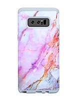 Недорогие -Кейс для Назначение SSamsung Galaxy Note 8 Защита от удара Кейс на заднюю панель Полосы / волосы / Мрамор ПК