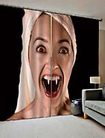 Недорогие -темный стиль хэллоуин тема крик вампир декоративные занавес 3d печать оттенок занавес настройки