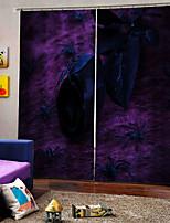 Недорогие -черный паук фон шторы для вечеринки хэллоуин затемнение теплоизоляция пользовательские шторы для дома decro