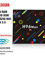 Недорогие -h96 max h2 amlogic rk3328 android 7.1 4 ГБ ddr4 32 ГБ ТВ-бокс двухдиапазонный Wi-Fi LAN Bluetooth Usb3.0 HDMI