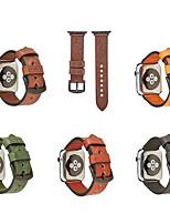 Недорогие -Ремешок для часов для Apple Watch Series 4/3/2/1 Apple Классическая застежка / Бизнес группа Натуральная кожа Повязка на запястье