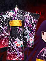 Недорогие -Вдохновлен Адская девочка Enma Ai Аниме Косплэй костюмы Японский Косплей Костюмы кимоно Пальто / Пояс / лента Назначение Жен.