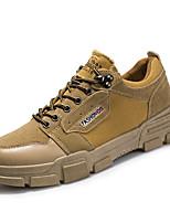 Недорогие -Муж. Комфортная обувь Полиуретан Осень / Весна лето На каждый день Кеды Для прогулок Дышащий Черный / Белый / Желтый