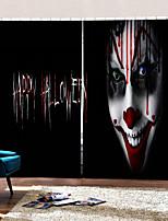Недорогие -личность оригинал ужас клоун декоративные шторы затемнение затенение ткани занавес для гостиной / спальни / клуба