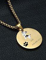 Недорогие -Персонализированные Индивидуальные далматина Теги для домашних животных Классический Подарок Повседневные 1pcs Золотой Серебряный