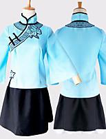 Недорогие -Вдохновлен Вокалоид Косплей Аниме Косплэй костюмы Японский Косплей Костюмы Кофты / Юбки / Носки Назначение Жен.