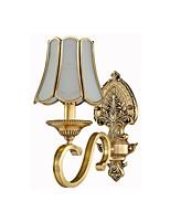 Недорогие -бра настенный бра ретро настенный светильник&усилитель; бра медная гостиная / спальня настенное освещение