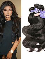 Недорогие -3 Связки Малазийские волосы Естественные кудри человеческие волосы Remy 100% Remy Hair Weave Bundles Человека ткет Волосы Удлинитель Пучок волос 8-28 дюймовый Нейтральный Ткет человеческих волос