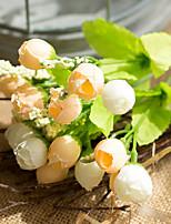 Недорогие -Искусственные Цветы 1 Филиал Классический Свадебные цветы Пастораль Стиль Розы Букеты на стол