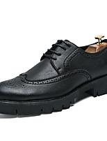 Недорогие -Муж. Комфортная обувь Полиуретан Лето Туфли на шнуровке Черный
