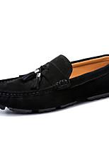 Недорогие -Муж. Кожаные ботинки Кожа Осень / Весна лето На каждый день Мокасины и Свитер Нескользкий Черный / Серый / С кисточками