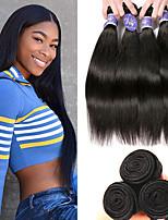 Недорогие -3 Связки Перуанские волосы Прямой человеческие волосы Remy 100% Remy Hair Weave Bundles Человека ткет Волосы Удлинитель Пучок волос 8-28 дюймовый Естественный цвет Ткет человеческих волос