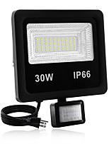 Недорогие -1шт 30 W LED прожекторы Водонепроницаемый / Новый дизайн / Монитор обнаружения движения Тёплый белый / Белый 85-265 V Уличное освещение / двор / Сад 60 Светодиодные бусины