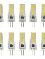 Недорогие -10 шт. 3 W Двухштырьковые LED лампы 300 lm G4 T 12 Светодиодные бусины SMD 5730 Новый дизайн Тёплый белый Белый / 12-24 V