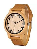 Недорогие -Для пары Нарядные часы Японский Японский кварц Стильные Кожа Коричневый 30 m Повседневные часы деревянный Аналоговый Мода Дерево - Коричневый Хаки Два года Срок службы батареи