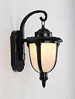 Недорогие -водонепроницаемые современные настенные светильники&усилитель; бра / наружное настенное освещение наружное / для сада металлический настенный светильник ip 65 black