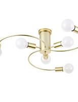 Недорогие -Встраиваемые светильники с 6 лампами, рассеянный свет, окрашенный металл, новый дизайн 110-120 В / 220-240 В