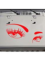 Недорогие -мода кузов автомобиля сделай сам водонепроницаемый красивые глаза стильные наклейки наклейки