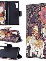 Недорогие -Кейс для Назначение SSamsung Galaxy Note 9 / Note 8 / Galaxy Note 10 Кошелек / Бумажник для карт / Защита от удара Чехол Животное Кожа PU