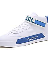 Недорогие -Муж. Комфортная обувь Полиуретан Весна лето На каждый день Кеды Красный / Синий / Серый