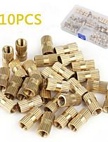 Недорогие -210шт м2-m10 латунный цилиндр с накатанной резьбой и круглой вставкой врезанные гайки (упаковка коробки)