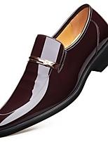 Недорогие -Муж. Комфортная обувь Кожа Наступила зима Мокасины и Свитер Черный / Коричневый