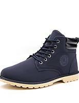 Недорогие -Муж. Армейские ботинки Полиуретан Осень / Зима На каждый день / Английский Ботинки Для прогулок Сохраняет тепло Черный / Желтый / Синий