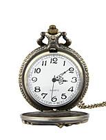 Недорогие -Муж. Карманные часы Кварцевый Старинный Повседневные часы Cool Аналого-цифровые Винтаж - Бронзовый Серебряный