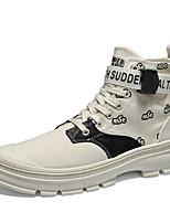 Недорогие -Муж. Армейские ботинки Полиуретан Осень Ботинки Черный / Бежевый / Хаки